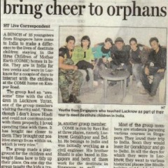 Thumbnail image for Singapore students bring cheer to orphans